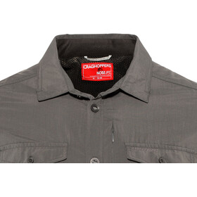 Craghoppers NosiLife Adventure II Long Sleeved Shirt Herre black pepper